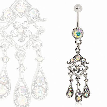 Piercing nombril pendentif chandelier oriental