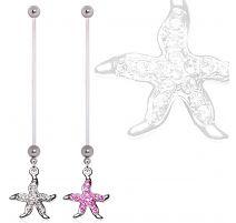 Piercing nombril de grossesse étoile de mer