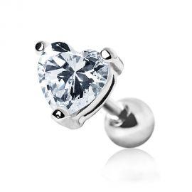Piercing cartilage hélix gemme coeur