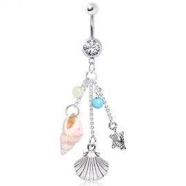 Piercing nombril charms de plage