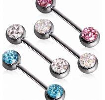 Piercing téton cristaux férido