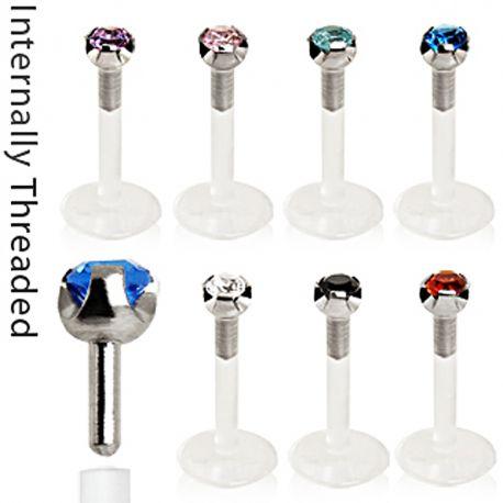 Piercing Labret BioFlex Gemme