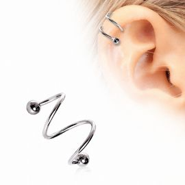 Piercing double spirale