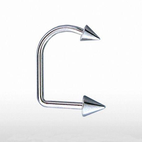 Piercing labret Loop Spikes - Bijou Piercing Labret