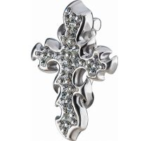 Piercing nombril iversé Crystal Evolution Swarovski Croix en flammes