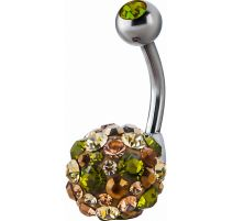 Piercing nombril Crystal Evolution Swarovski Sphere