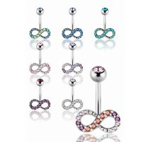 Piercing nombril Crystal Evolution Infini Zirconia Swarovski