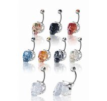 Piercing nombril Crystal Evolution Swarovski Crâne Couronne