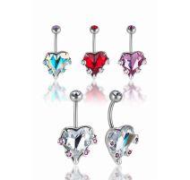 Piercing nombril Crystal Evolution Swarovski Coeur et gemmes