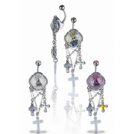 Piercing nombril Crystal Evolution Swarovski Croix