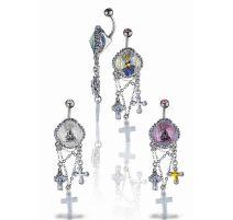 Piercing nombril Crystal Evolution Swarovski Croix