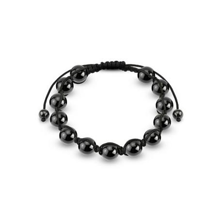 Bracelet Shamballa avec billes métalliques hématite
