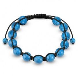 Bracelet Shamballa avec billes Turquoise