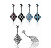 Piercing nombril Crystal Evolution Swarovski Grappe Titane G23