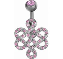 Piercing nombril Crystal Evolution symbole infini Zirconia Swarovski