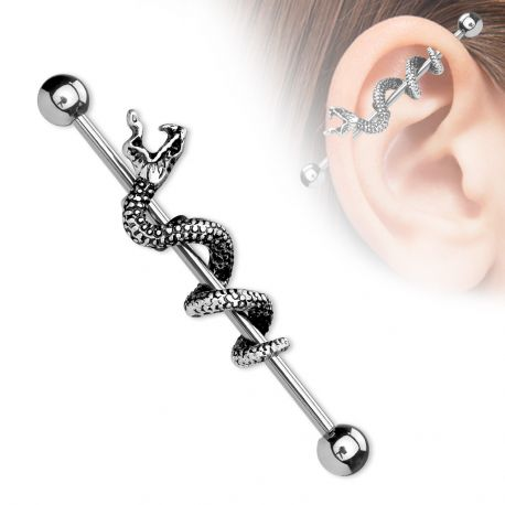 Piercing industriel avec serpent