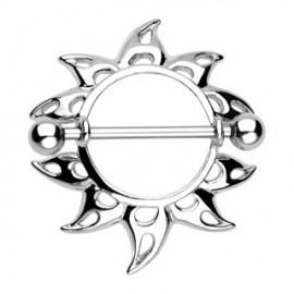 Piercing Téton Bouclier Soleil