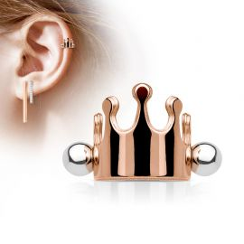 Piercing Oreille Helix Cartilage Manchette Couronne Or Rose