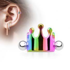 Piercing Oreille Helix Cartilage Manchette Couronne Multicolore