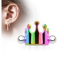 Piercing Oreille Helix Cartilage Manchette Couronne Multicolore