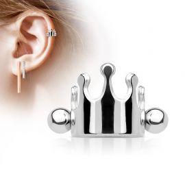 Piercing Oreille Helix Cartilage Manchette Couronne Argentée