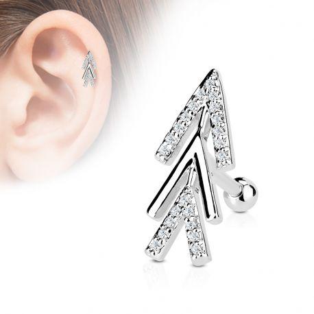 Piercing oreille cartilage chevrons de flèche