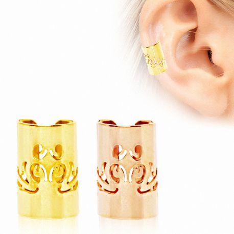 Faux piercing oreille manchette baroque