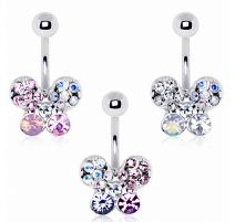 Piercing nombril papillon chatoyant