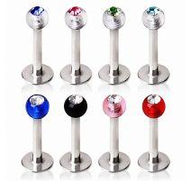 Piercing labret boules acrylique spirales