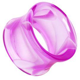 Piercing tunnel acrylique marbré violet