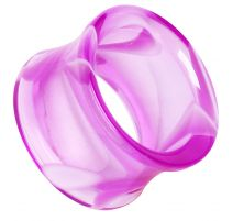 Piercing plug acrylique marbré violet