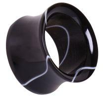 Piercing plug acrylique marbré noir