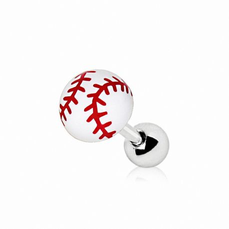 Piercing cartilage oreille balle de baseball