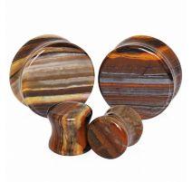 Piercing plug pierre naturelle jaspe rubanée