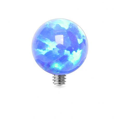 Piercing microdermal opale bleue