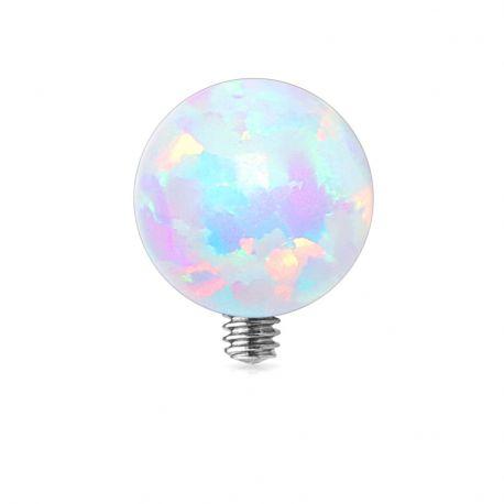Piercing microdermal opale blanche