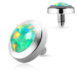 Piercing microdermal plat opale verte