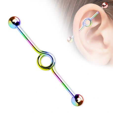 "Piercing oreille industriel en titane ""Loop"""