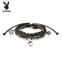 Bracelet Playboy en cuir avec des charms