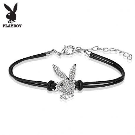 Bracelet Playboy en similicuir avec charm