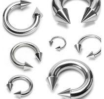 Piercing fer à cheval cônes