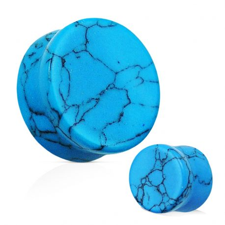 Piercing Plug Oreille Pierre semi-précieuse Turquoise