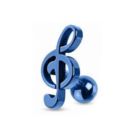 Piercing cartilage clef de sol Bleue