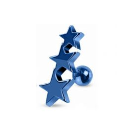 Piercing cartilage étoiles bleues