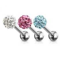 Lot de 3 Piercing langue Crystal Férido