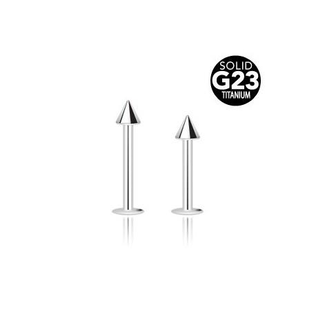 Piercing Labret Spike Titane G23 - Bijou Piercing Labret
