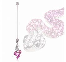 Piercing nombril de grossesse serpent gemmes
