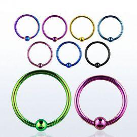 Piercing anneau captif en acier PVD