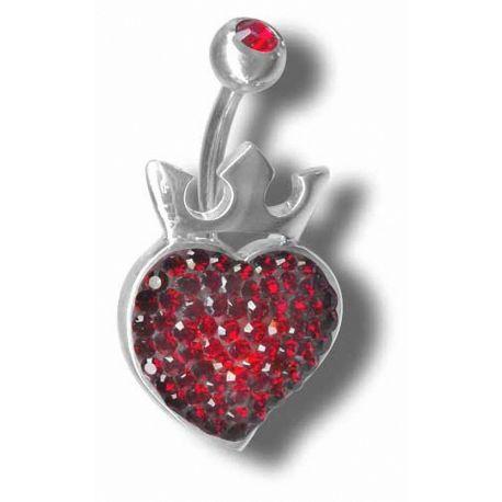 Piercing nombril Crystal Evolution Coeur Royal Swarovski