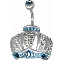 Piercing nombril Crystal Evolution Couronne Swarovski